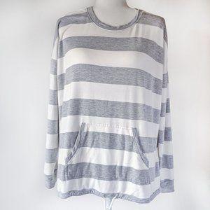 Kenzie Women's French Terry Striped Sweatshirt